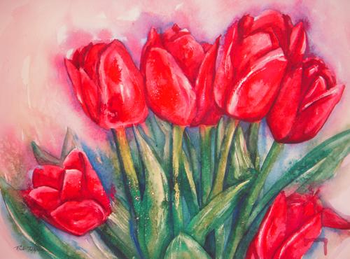 Six Tulips