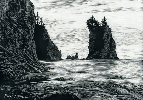 End of the Beach at La Push.