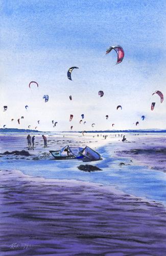 Jetty Island Kiteboarders