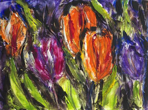 Impressionistic Tulips