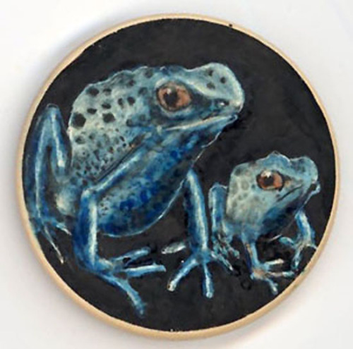 Blue frogs