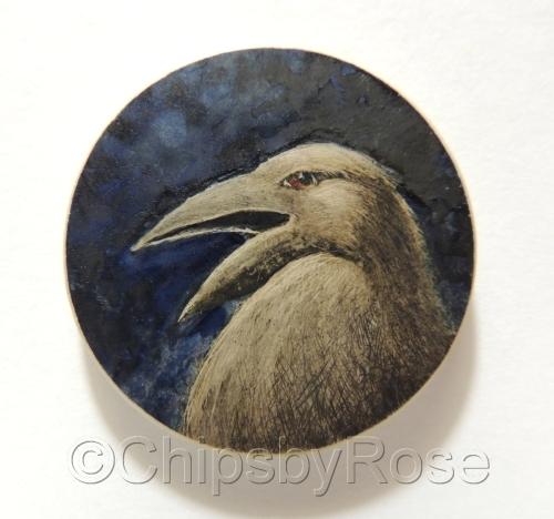 Yelling Crow Bird Deep Blue