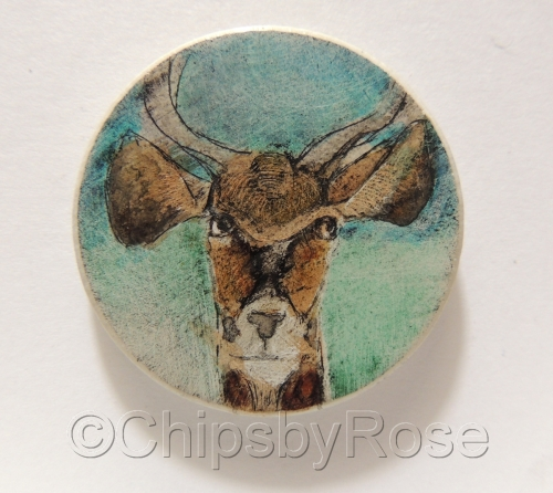 Antelope with Blue Green