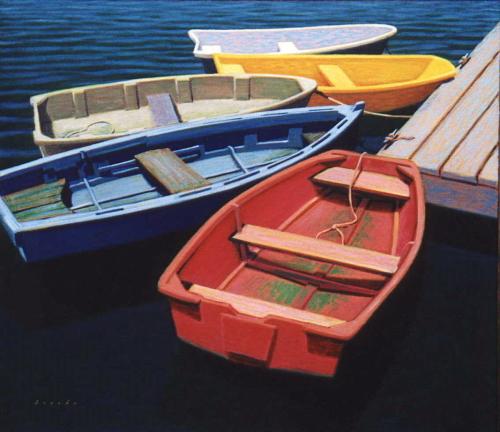 Five Skiffs
