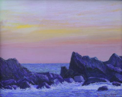 Jagged Rocks at Dawn