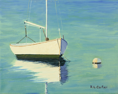 Sailboat in Morning Light