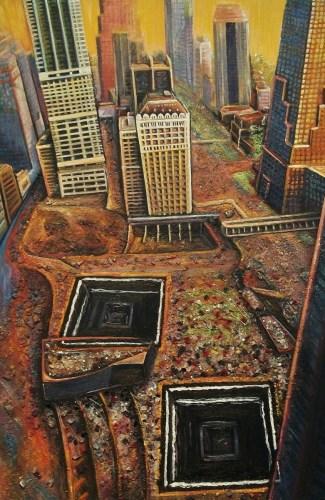 Footprints in Lower Manhattan by ROBERTA