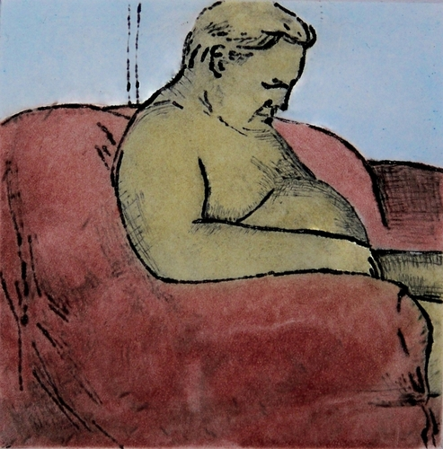 The Red Chair, self portrait