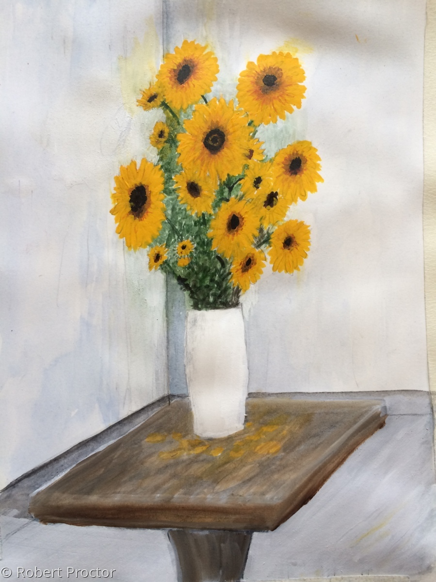Vase of Sunflowers (large view)