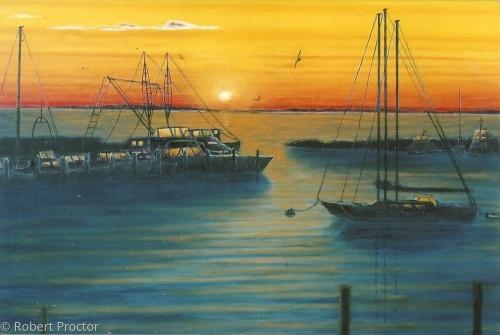 Manemsha Harbor at Sunset