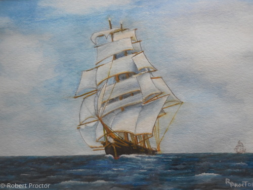 Clipper Ship In Tea Trade