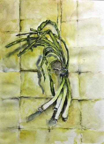 Hanging Leeks