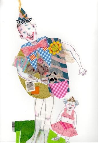 Clown with Midget
