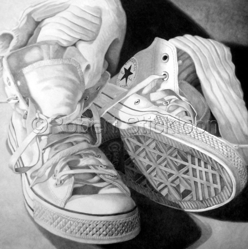 White Converse All Stars by Robert Stickloon