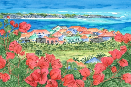 'BOUGAINVILLEA VIEW OF ST. MARTIN' (large view)