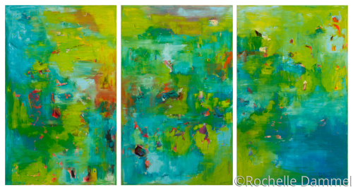 Reflections of Giverny Triptych