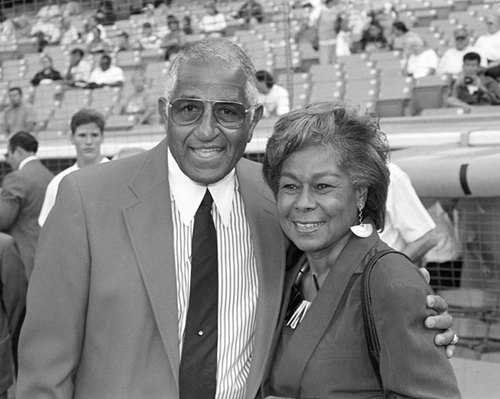 Don Newcomb and Rachel Robinson (large view)