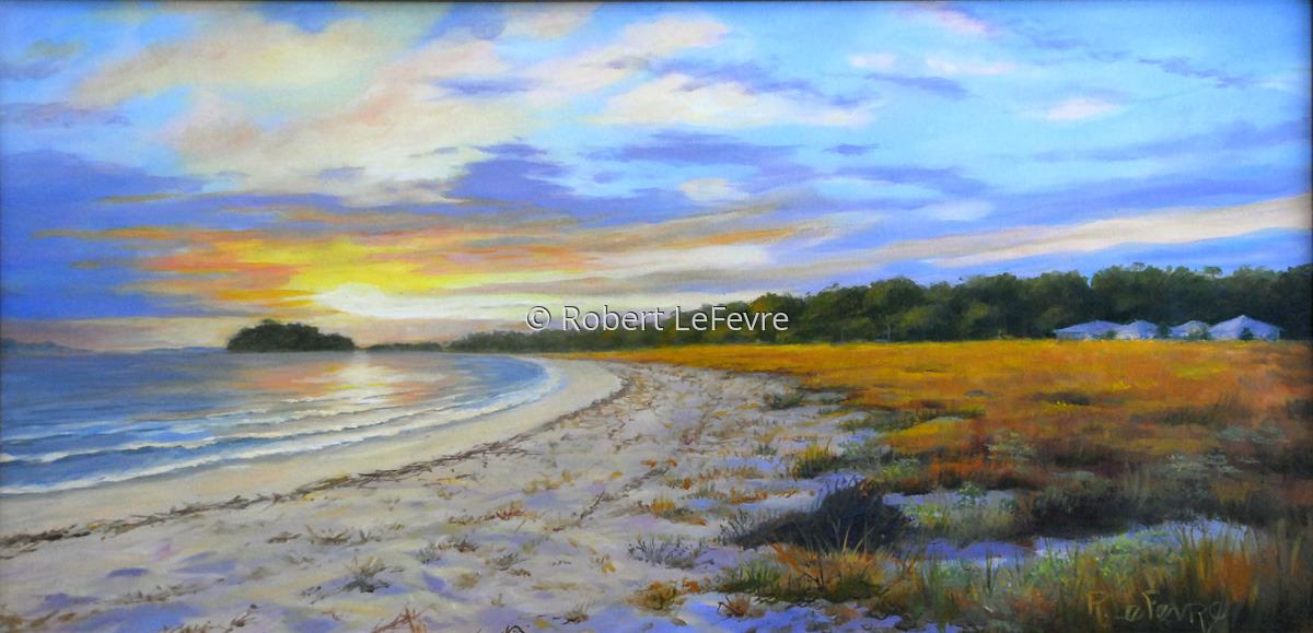 """PELICAN BEACH EVENING LIGHT"" (large view)"