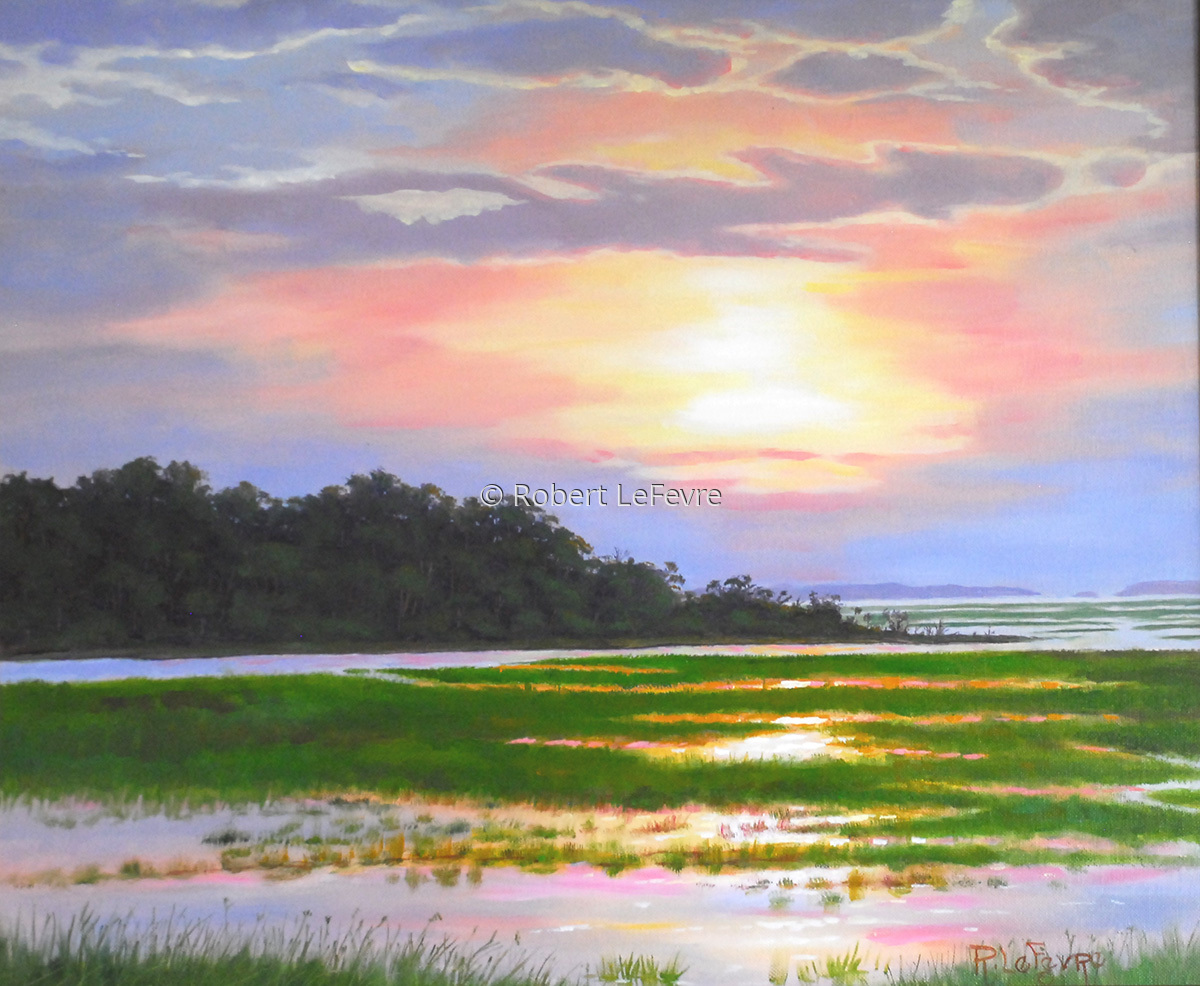 """FLOOD TIDE SUNSET"" (large view)"
