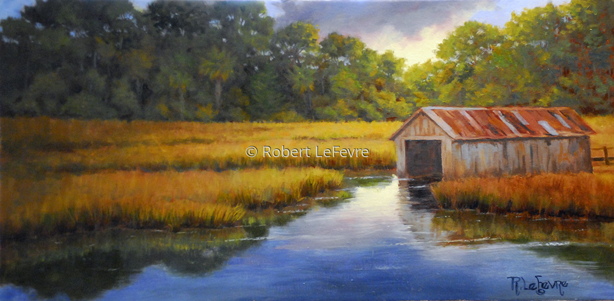 """BRADHAM'S BOAT HOUSE"""" (large view)"""