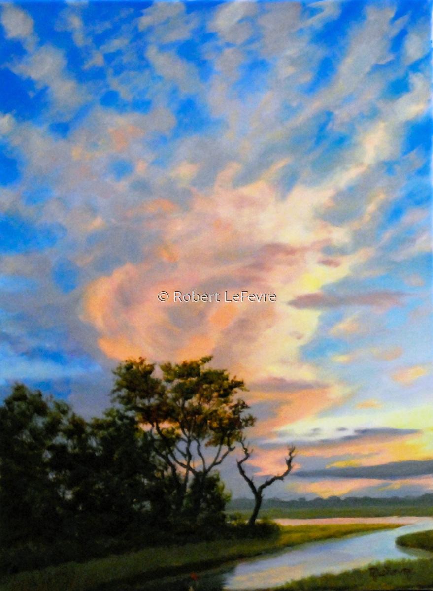 painting color explosion original art by robert lefevre