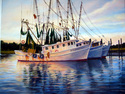 Painting--Oil-LandscapeShrimp Boats Abreast