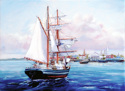 Painting--Oil-SeascapeCOMING HOME, CHARLESTON, SC