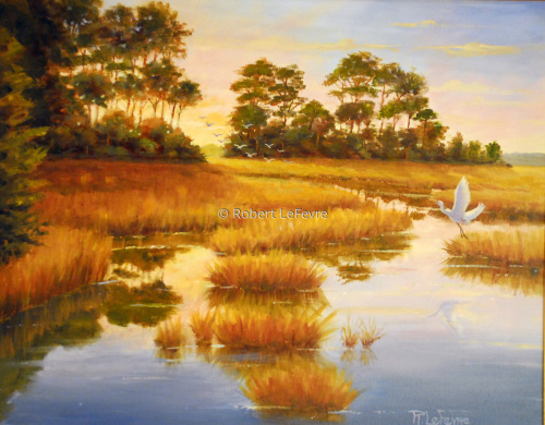"""PEACEFUL MARSH"" (large view)"
