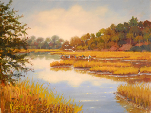 "'WINTER MARSH"" (large view)"