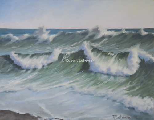 """ROUGH SEAS"" (large view)"