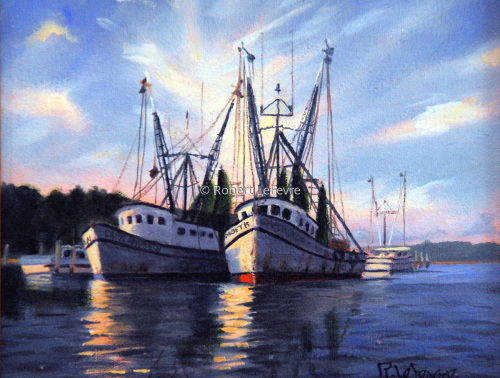 """CHERRY P[OINT SHRIMPERS"" (large view)"