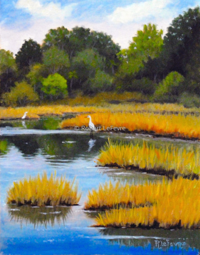 """MARSH OFF JENKINS POINT"" (large view)"