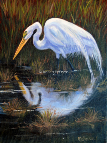 Painting--Oil-WildlifeTHE HUNTER