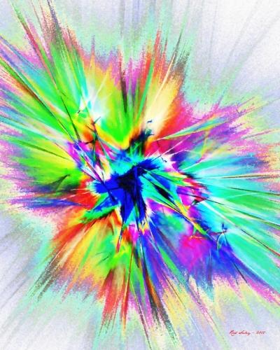 Cosmic Blast by Rod Seeley - Digital Artist