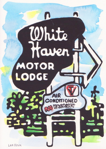 White Haven Sign