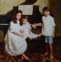 Indoor Portrait of Sisters and Brother (thumbnail)