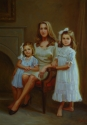 Indoor Portrait of Mother and Daughters (thumbnail)