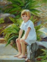 Outside Painting of a Young Boy (thumbnail)
