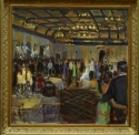 First Dance Painting of Newlyweds at Reception (thumbnail)