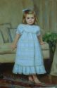 Madeline, formal indoor portrait of a young girl (thumbnail)