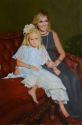 Mother and Daughter, formal indoor portrait (thumbnail)