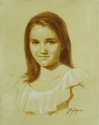 Monochrome of Young Girl (thumbnail)