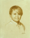 Monochrome of Young Boy (thumbnail)