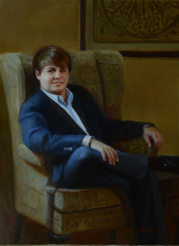 Indoor Painting of Young Man  (large view)