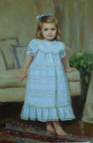 Madeline, formal indoor portrait of a young girl (large view)