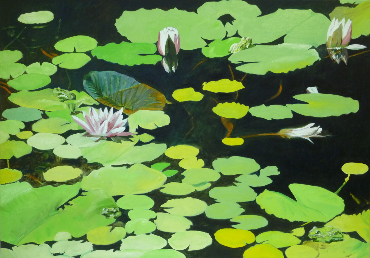 4 Frogs (Water Lilies Nr. 8) (large view)