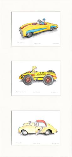 Racer Car Trio