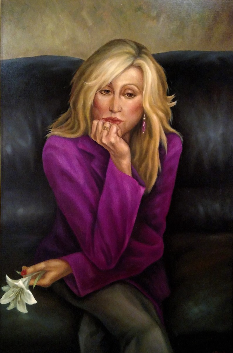 Blonde with White Lily (large view)