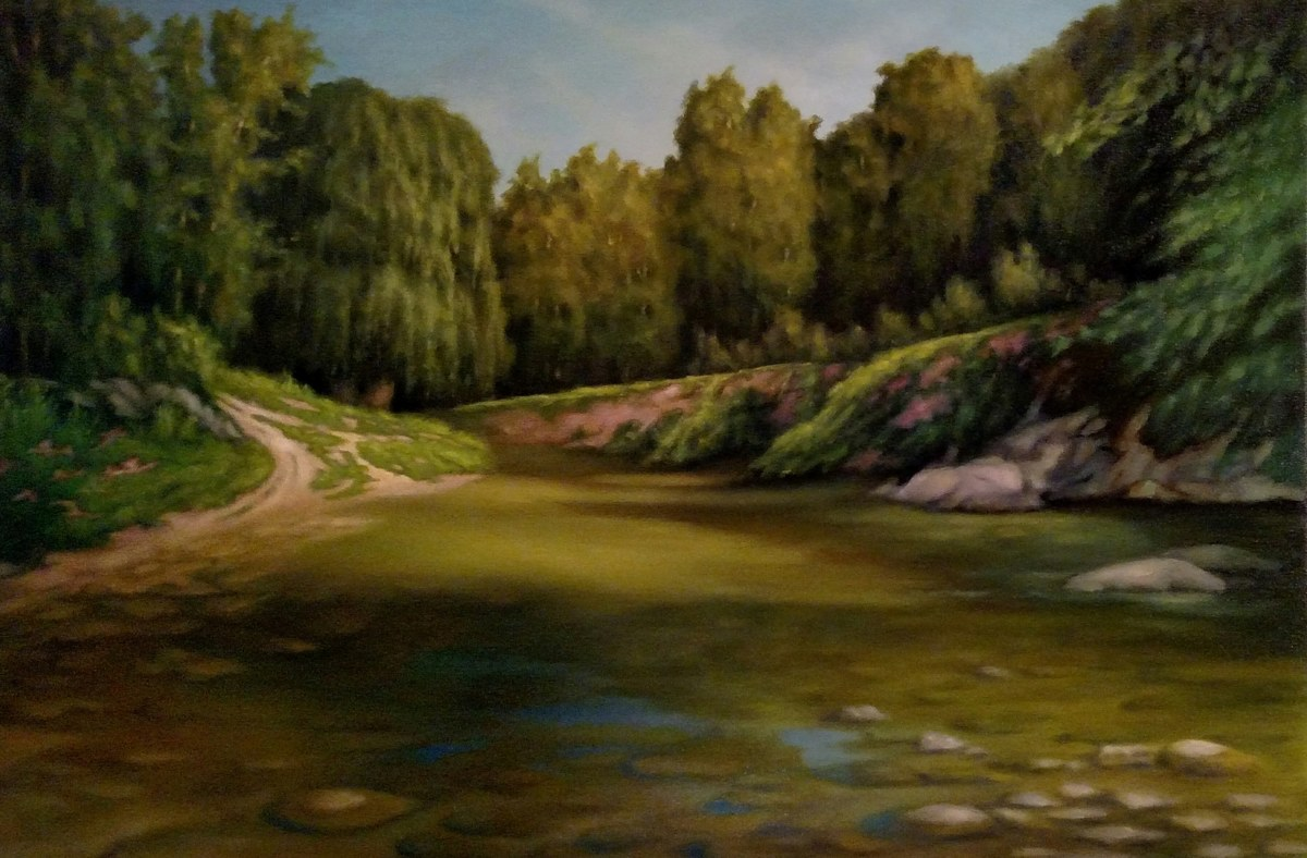A Hot Summer Day by the Codorus Creek (large view)