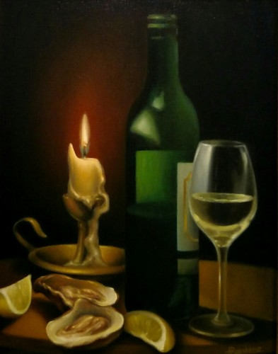 Still Life with Wine and Oysters II